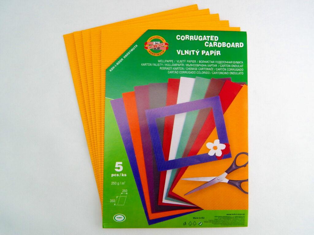Vlnitý papír 9758  – žlutooranžový   707
