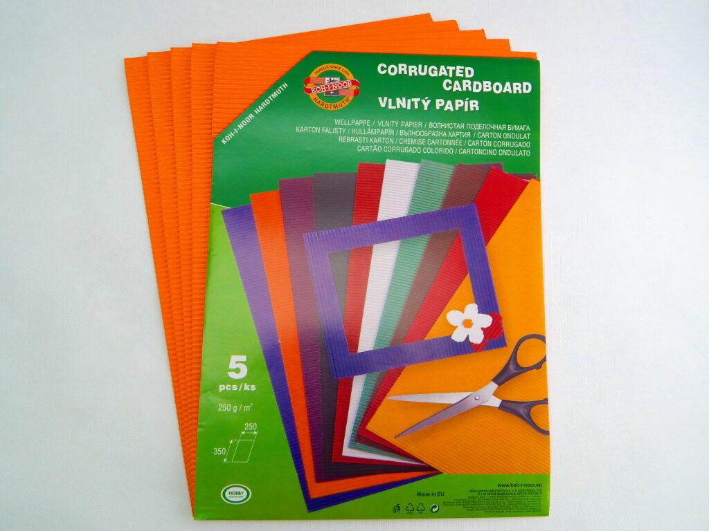 Vlnitý papír 9758 – oranžový  709