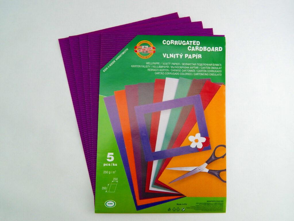 Vlnitý papír 9758 – fialový  751