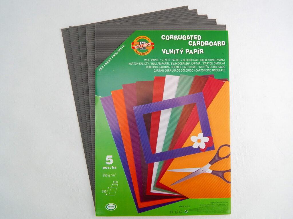 Vlnitý papír 9758 – šedý  770