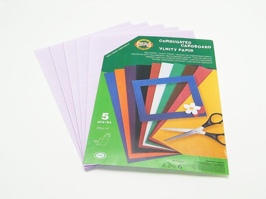 Vlnitý papír 9758 - pastelový fialový