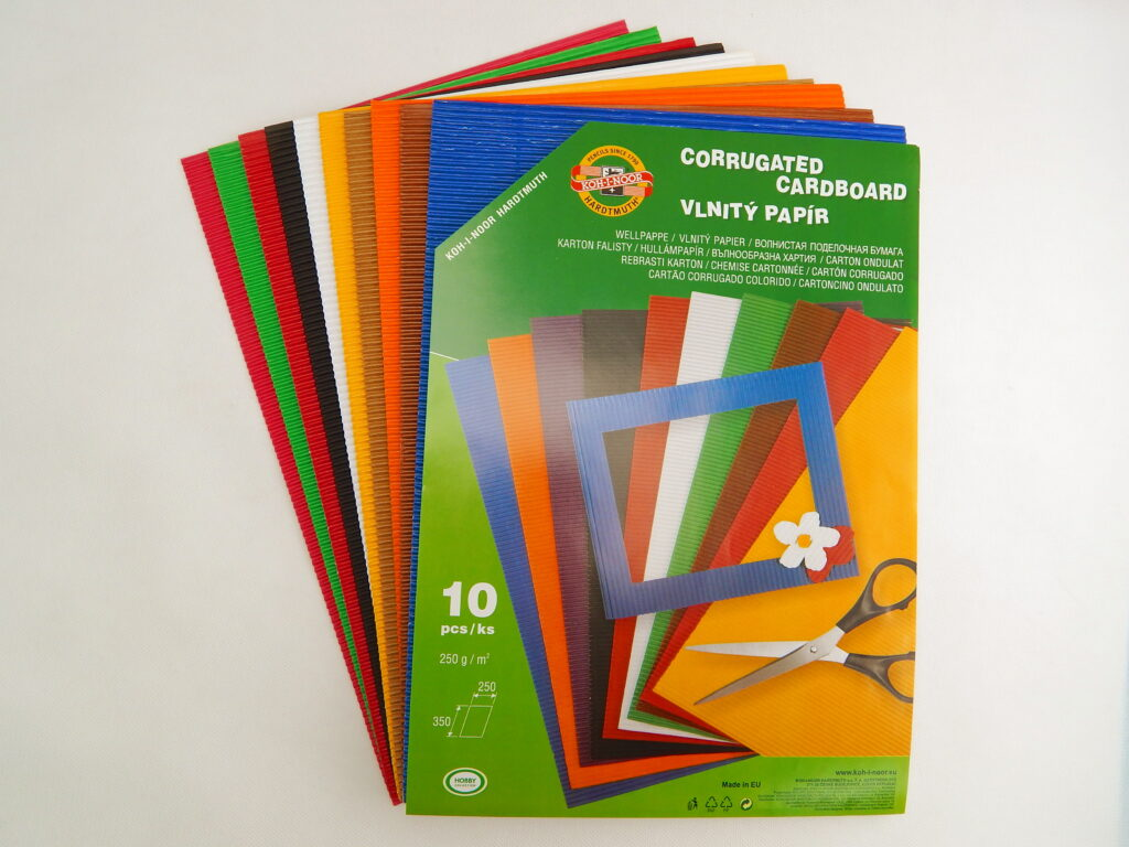 Vlnitý papír 9758 – mix 10 barev
